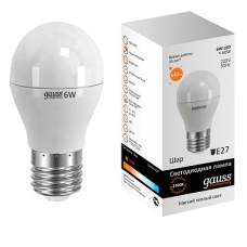 Лампа Gauss LED Globe E27 6.0Вт 2700К