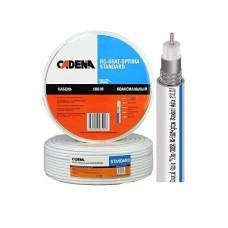 Кабель RG-6 SnCu / AL внутренний белый SAT-Optima standart CADENA