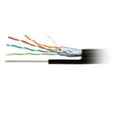 Кабель UTP 4х2 (0.50) Cu SBS внешний черный c тросом