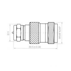 Переход F(male) - N(female) медь H3023
