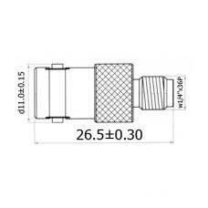 Переход BNC(female) - SMA(female) медь H3499