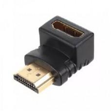 Переход угловой HDMI(female) - HDMI(male) пластик