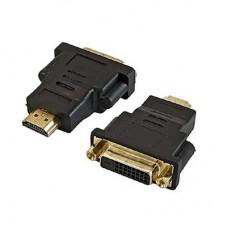 Переход HDMI(male) - DVI-D(female) пластик