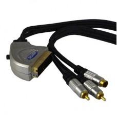 Шнур SCART-2RCA+S-VHS 1.5м GOLD