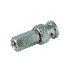Штекер 9-0207(В) BNC-59 накрутка RG-59 (медь)